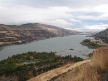 looking east from the Rowena Plateau